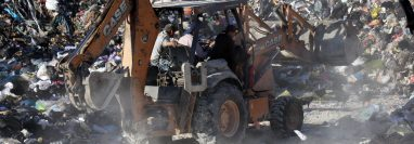 La Municipalidad de Huehuetenango no cuenta con un plan de manejo de desechos sólidos, la empresa que recolecta la basura la deposita en un vertedero. (Foto Prensa Libre: Mike Castillo