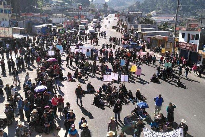 Los 48 cantones de Totonicapán anuncian bloqueos de carreteras y estos son los puntos que serán afectados