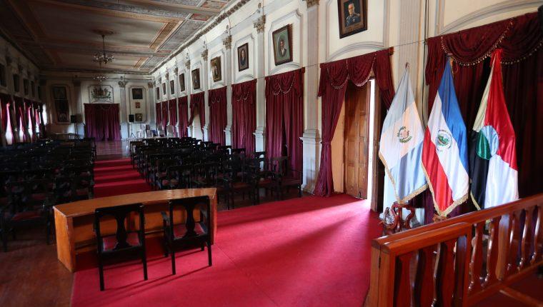 El Salón de Honor de la Municipalidad de Quetzaltenango será la sede para la conformación del Foro Permanente de Diputados de la Región VI. (Foto Prensa Libre: María Longo)
