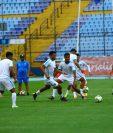 El equipo guatemalteco está clasificado a la Liga de Naciones  B. Este sábado cierra su participación en la C contra Puerto Rico. (Foto Prensa Libre: Luis López)