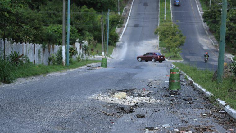 17 avenida que conecta los Bulevares Tulám Tzu y Naranjo.(Foto Prensa Libre:  Juan Diego González)