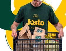 El supermercado en línea de Justo ya cuenta con 3,500 productos distintos, que van desde frutas y verduras hasta artículos refrigerados, de farmacia o de limpieza. (Foto Prensa Libre: Cortesía)