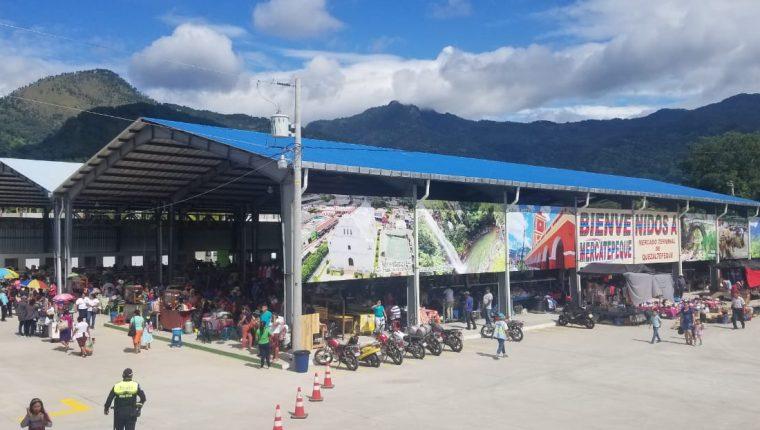 El mercado de Quezaltepeque, Chiquimula, fue habilitado esta semana. (Foto Prensa Libre: Dony Stewart)
