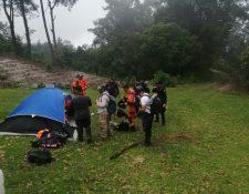 Una turista guatemalteca se extravió en las faldas del volcán Santa María, en Quetzaltenango. (Foto Prensa Libre: Conred)