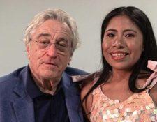 Yalitza Aparicio y Robert De Niro compartieron un momento en el Festival Internacional de Cine de Los Cabos. (Foto Prensa Libre: Instagram).