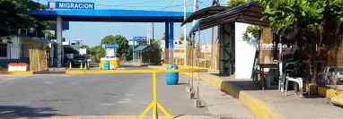 Aduana número 1 de Tecún Umán este 14 de noviembre de 2019. (Foto Prensa Libre: Alexander Coyoy).