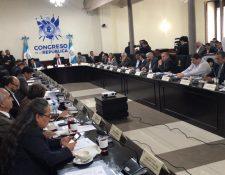 En la instancia de jefes de bloque se acordó que se suspendiera la discusión de reformas a la prisión preventiva. (Foto Prensa Libre: José Castro)