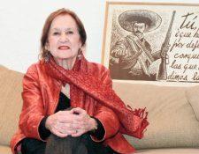 Rina Lazo fue la última de las representantes del muralismo mexicano. (Foto Prensa Libre, Hemeroteca PL).
