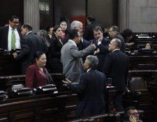 Diputados en la sesión plenaria de este 12 de noviembre. (Foto Prensa Libre: Noé Medina)