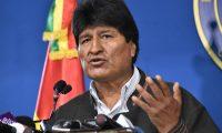 Evo Morales, renunció a la presidencia de Bolivia.(Foto Prensa Libre: AFP)