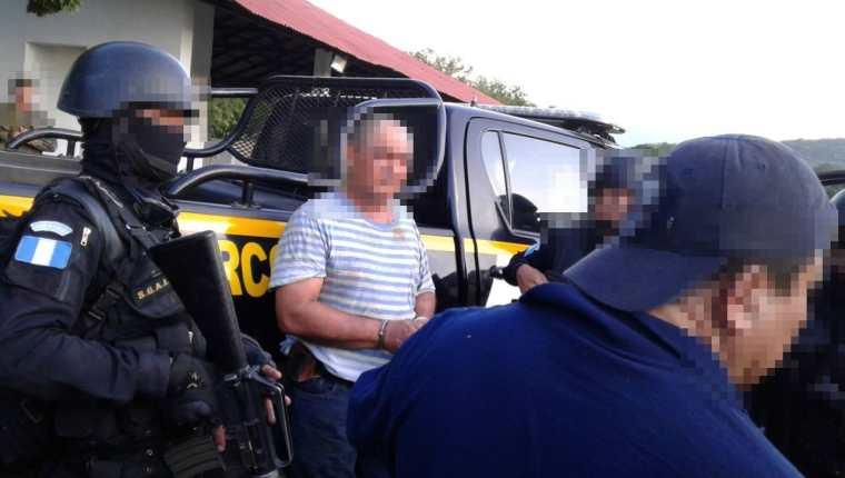 Haroldo Jeremías Lorenzana, arrestado. (Foto Prensa Libre: PNC)