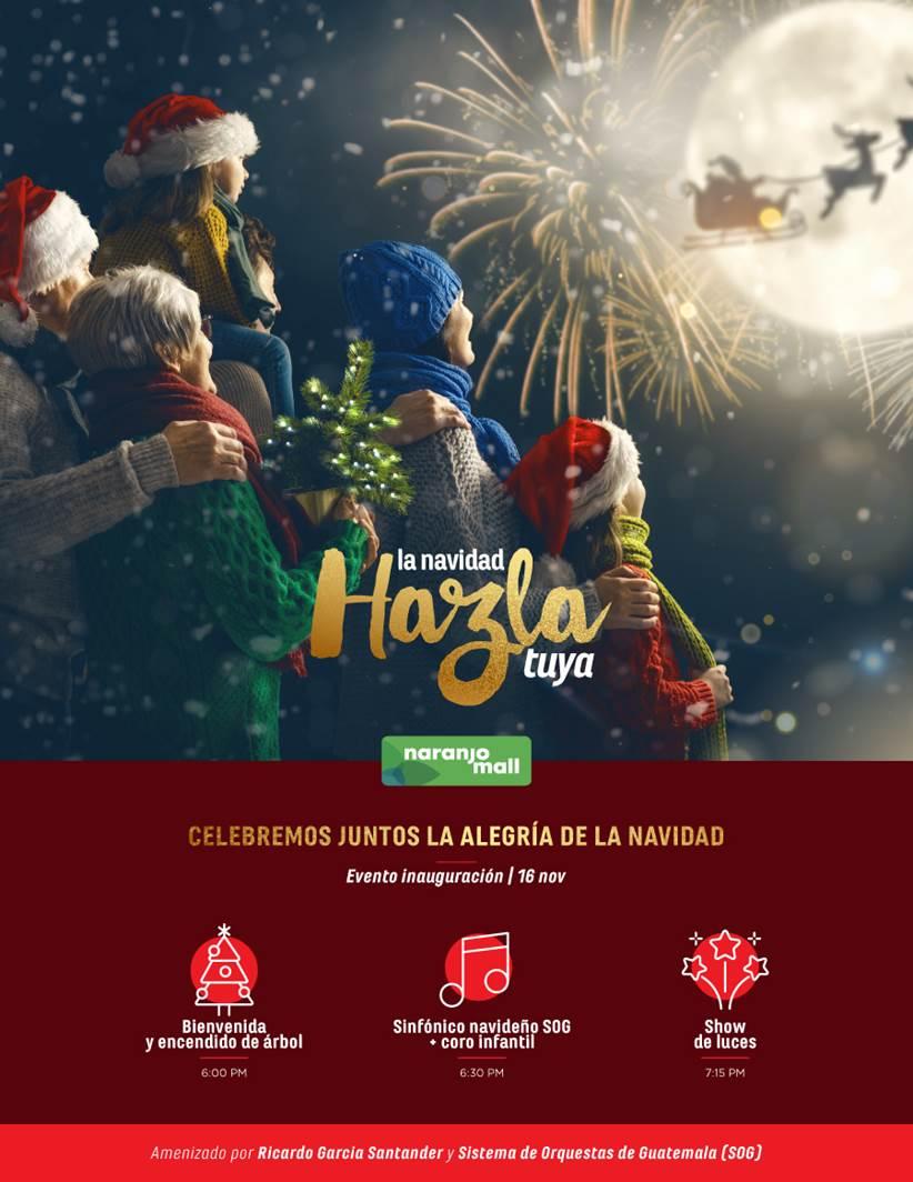 Inauguración de la temporada navideña en Naranjo Mall - Prensa Libre