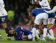 El jugador portugués sufrió una rotura de tibia y peroné en el partido del Everton contra el Tottenham. (Foro Redes).