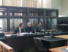 El expresidente Otto Pérez Molina durante la audiencia. (Foto Prensa Libre: Édwin Pitán)