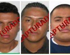Luis Antonio Sierra Arévalo, Cristian Alexander Barrios Mauricio y Elder Vicente Chamalé, sentenciados. (Foto Prensa Libre: Hemeroteca PL)