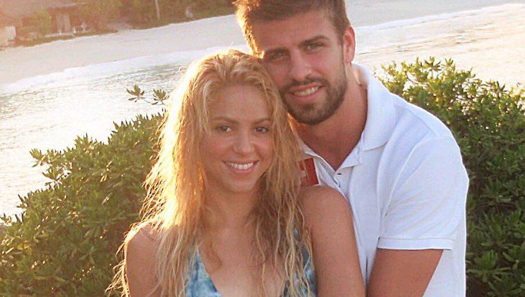 La primera imagen que Shakira subió a sus redes sociales cuando empezó la historia de amor con el futbolista Piqué.  (Foto Prensa Libre: The Grosby Group)