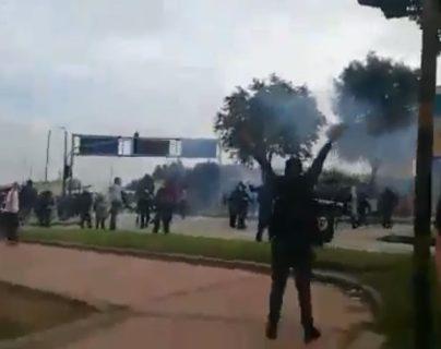 Jornada de protestas paraliza Bogotá en contra del gobierno de Iván Duque
