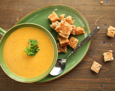 Las sopas y cremas son excelentes platillos para la época fría. ¡Disfrútelos! (Foto Prensa Libre: Servicios).