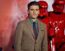 Óscar Isaac durante la premier de Star Wars: The Rise of Skywalker, en Lóndres,  el 18 de diciembre pasado.  (Foto Prensa LIbre:  AKMEN / AFP)