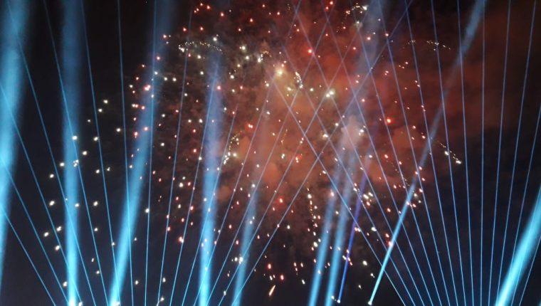 Nueva tecnología se utilizó en esta edición del Show de las Luces Campero. (Foto Prensa Libre: Byron García)