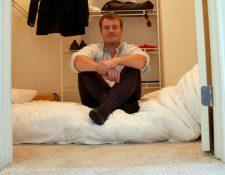 Mathias pasó 12 semanas viviendo en un armario en Silicon Valley. MATHIAS MIKKELSEN