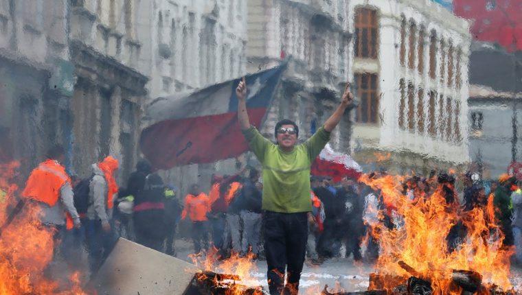 La pintoresca Valparaíso también ha sido escenario de protestas. REUTERS
