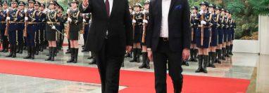 Xi Jinping desplegó la alfombra roja para recibir a Bukele. GETTY IMAGES