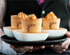 Air New Zealand asegura que sus tazas comestibles con sabor a vainilla son a prueba de filtraciones. AIR NEW ZEALAND