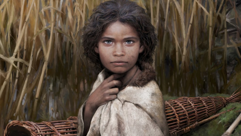 """Cómo un """"chicle"""" de más de seis mil años ayudó a reconstruir el rostro de Lola, una mujer de la Edad de Piedra"""
