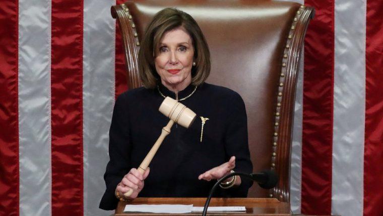 La demócrata Nancy Pelosi fue una de las principales protagonistas de la activación del juicio político contra Trump.