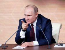 El presidente Vladimir Putin habló durante cuatro horas en su conferencia de prensa anual en Moscú.