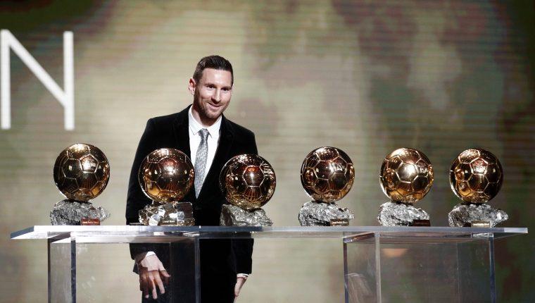 Lionel Messi  conquistó su sexto Balón de Oro. (Foto Prensa Libre: EFE)