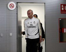 El entrenador francés del Real Madrid, Zinedine Zidane, durante la rueda de prensa tras el entrenamiento realizado esta mañana en la Ciudad Deportiva de Valdebebas. (Foto Prensa Libre: EFE)