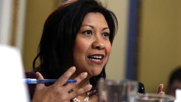 Congresista Norma Torres, durante una actividad reciente en Washington, Estados Unidos. (Foto Prensa Libre: EFE)