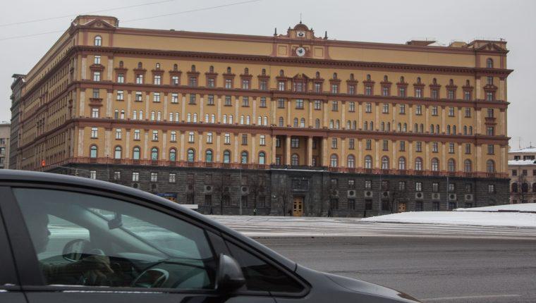 Vista exterior de la sede del Servicio Federal de Seguridad de Rusia. (Foto Prensa Libre: EFE)