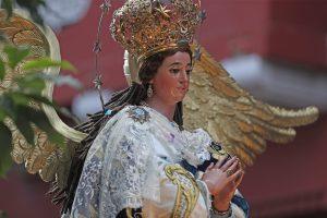 """La Virgen de la iglesia San Francisco es conocida también como """"la Virgen de los Reyes"""". Foto Prensa Libre: Óscar Rivas"""