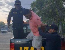Estuardo Enrique Mérida Sánchez, detenido. (Foto Prensa Libre: PNC)
