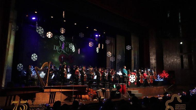 La temporada navideña de la Orquesta Sinfónica Nacional inició el 28 de noviembre. (Foto Prensa Libre: OSN / Facebook)