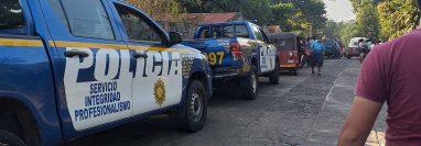 Lugar donde ocurrió el hecho en El Asintal, Retalhuleu. (Foto Prensa Libre: tomada de la fanpage CANAL TNREU).