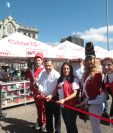 Por tres días la Plaza de la Constitución tendrá la Feria Gigared de Claro. Foto Prensa Libre: Norvin Mendoza