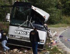 Las víctimas de percances viales, como el ocurrido en Gualán, Zacapa, están desprotegidas por que no se cumple la ley. (Foto Prensa Libre)