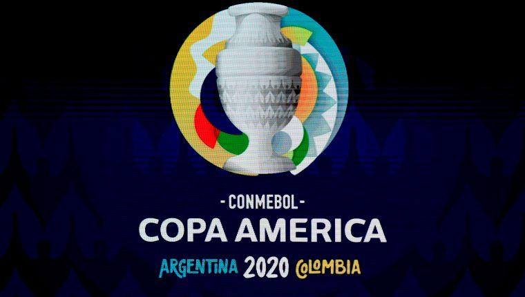 Este es el logo de Copa América 2020. (Foto Prensa Libre: AFP)