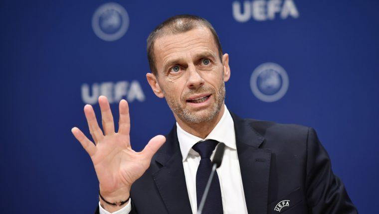 Aleksander Ceferin, presidente de la Uefa, espera que se celebre la Uefa con total normalidad. (Foto Prensa Libre: EFE)