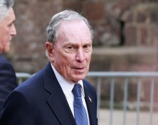 (FILES) In this file photo taken on May 15, 2019 Michael Bloomberg arrives to the opening celebration of the Statue of Liberty Museum on Liberty Island at the Statue Cruises Terminal in Battery Park in New York. - Democratic presidential hopeful Michael Bloomberg on Friday defended the policy implemented by his news agency to steer clear of investigating him, saying doing so would not be credible. (Photo by KENA BETANCUR / AFP)