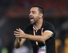 Xavi Hernández, entrenador del Al Sadd, disfruta esta nueva faceta en su carrera. (Foto Prensa Libre: AFP)