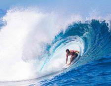 Las olas de Tahití será perfectas para los Juegos Olímpicos del 2024. (Foto Prensa Libre: AFP)