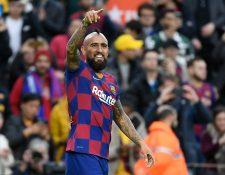 Arturo Vidal es un jugador determinante en el Barcelona. (Foto Prensa Libre: AFP)