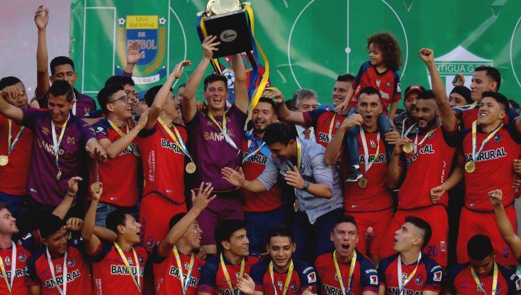 Municipal es el actual campeón del futbol guatemalteco. (Foto Prensa Libre: Hemeroteca PL)