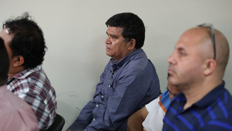 El exalcalde de Chinautla, Arnoldo Medrano, durante la audiencia el pasado 10 de abril. (Foto Prensa Libre: Hemeroteca PL).