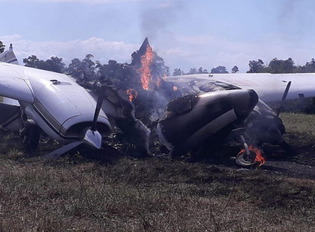 Autoridades incineraron avioneta abandonada en pista clandestina y esta es la razón
